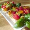 """Брускетта """"осіння"""" з помідори в вінегреті і сиром // для тасін матусі - рецепт"""