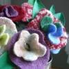 Букет квітів з фетру