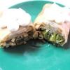 Чайні млинці з яєчнею і зеленою цибулею. - рецепт