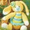 Іграшка гачком - зайченя мила