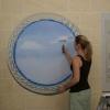 Як намалювати хмари на стіні