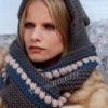 Капюшон-шарф спицями