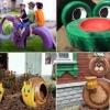 Вироби з шин для дитячого майданчика своїми руками