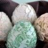 Падалка до великодня: декороване папером яйце