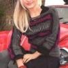 Пуловер з хвилястим візерунком на дівчину