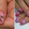 Малюнки на коротких нігтях