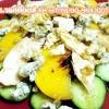 Салат з куркою, рокфором і персиками. - рецепт