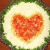 "Салат ""закохане серце"""