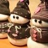 Сніговик з носка - м`яка іграшка до нового року