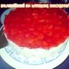 Торт з профитролей і полуниці - рецепт